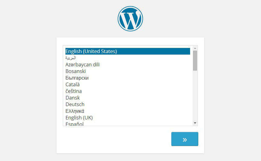 langage-instalation-wordpress