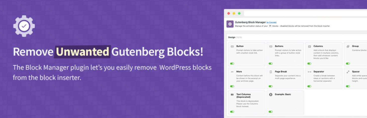 إضافة Gutenberg Block Manager تسهّل من عملية الاختيار بين 500 مكونًا حديثًا