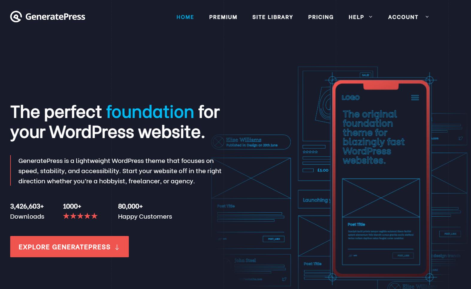 قالب GeneratePress .. مقارنة بين النسخة المجانية ونسخة generate press pro