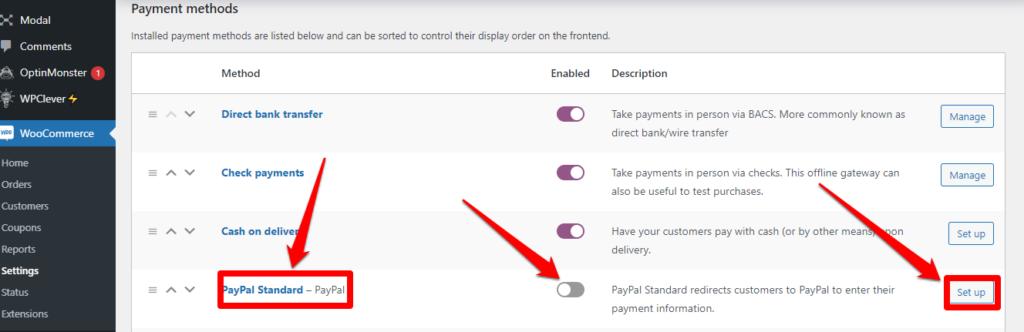 باي بال القياسي Paypal Standard