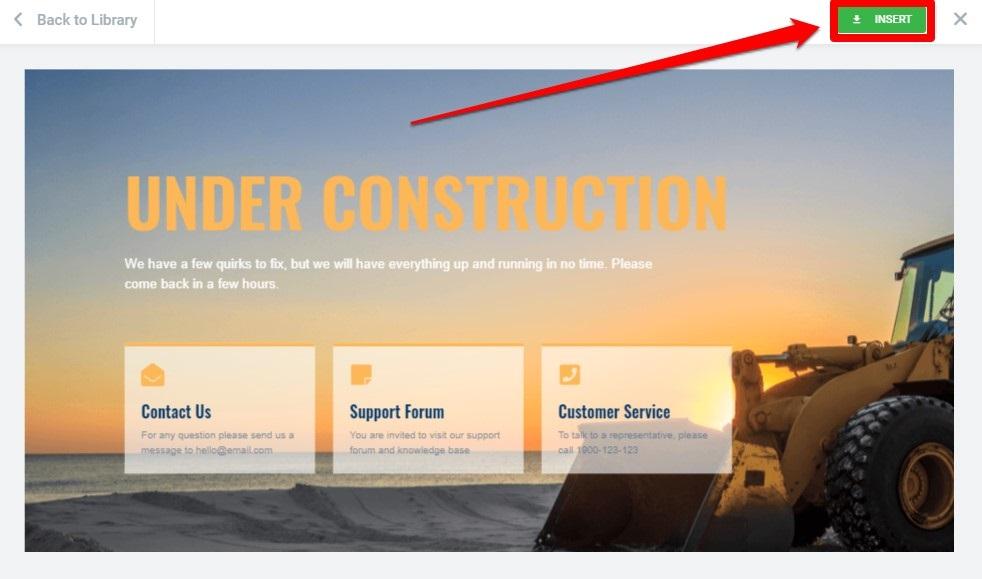 بناء صفحة الموقع تحت الصيانة
