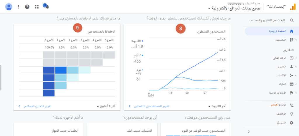 تحليلات قوقل - اكتساب والاحتفاظ بالمستخدمين