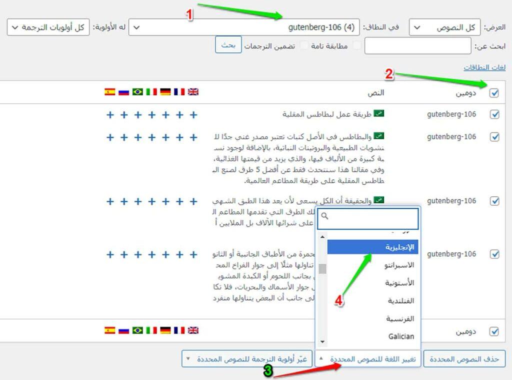 لغة نصوص معينة من خلال إضافة WPML String Translation