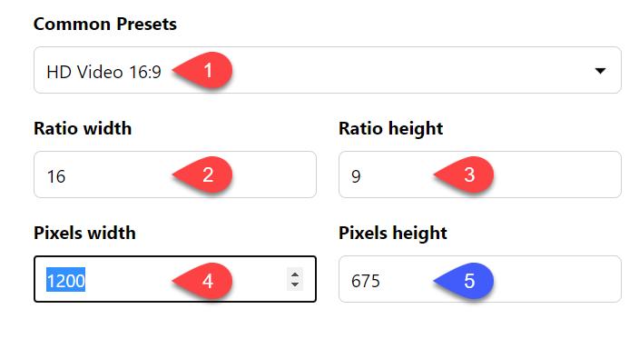 موقع حساب الaspect ratio